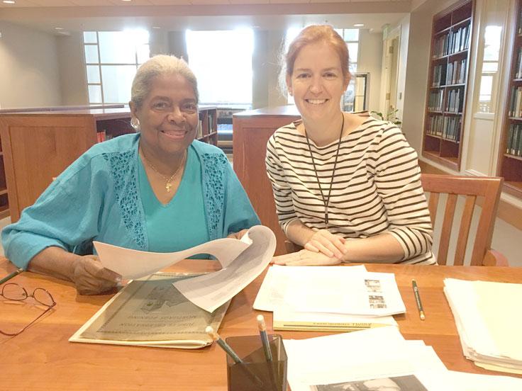 Bethel Historian Olivia McGee-Lockhart and IHS Digitization Staff Kathy Mulder