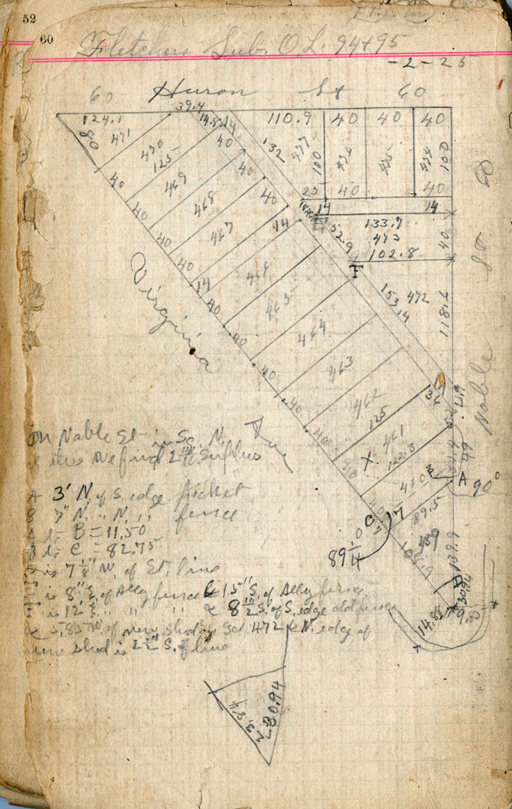An image of the Virginia Avenue survey sketch.
