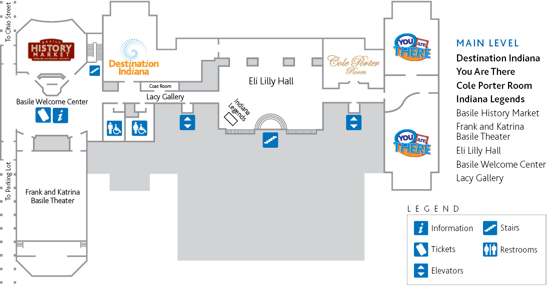 First level map of the History Center