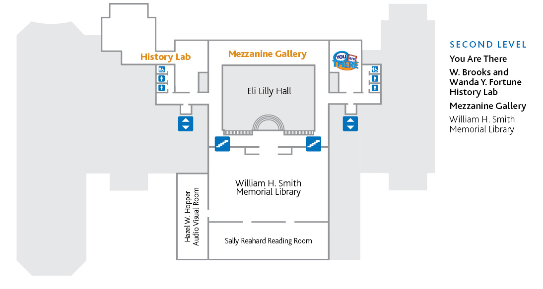 Second level map of the History Center